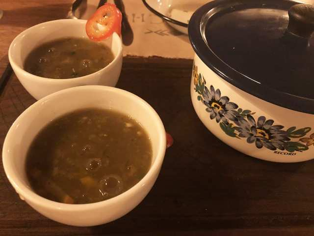 el albergue ollantaytambo - chuncho soup