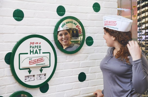 krispy kreme paper hat station