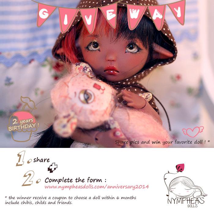 MalChococoncour2014 Nympheas Dolls 2014 Anniversary ! non classe     Nympheasdolls