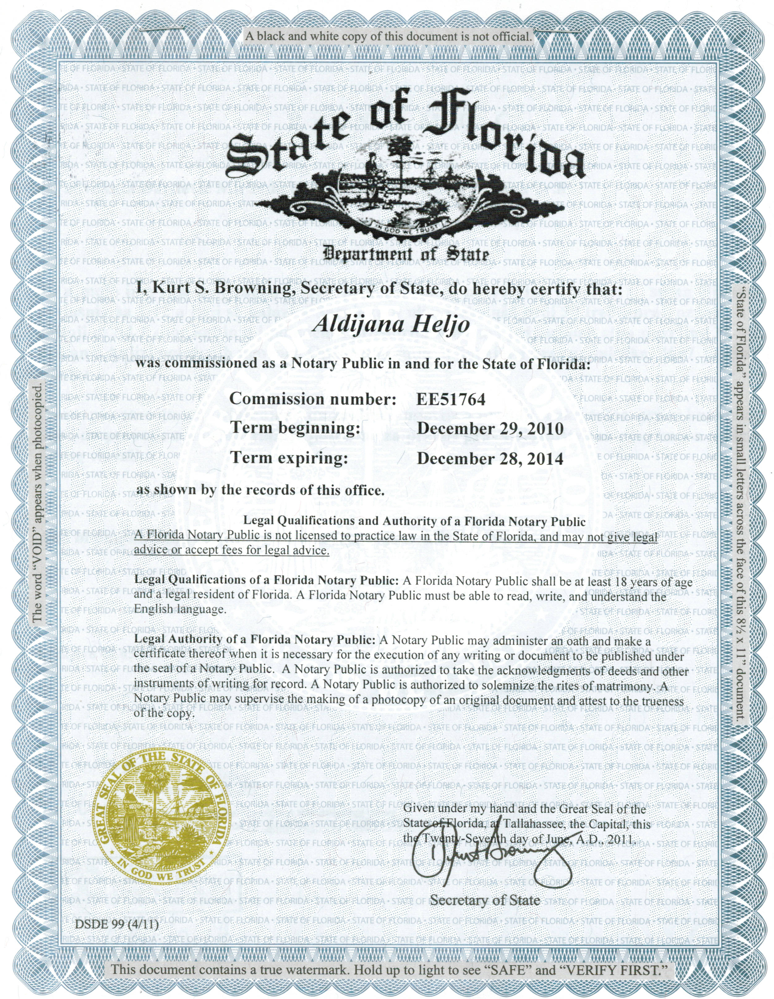 Apostille Examples  Legalization Examples