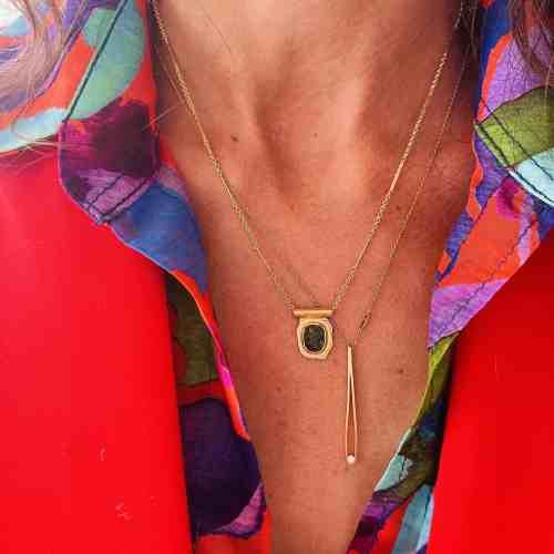 Collier Amulette Nynybird Tourmaline Verte
