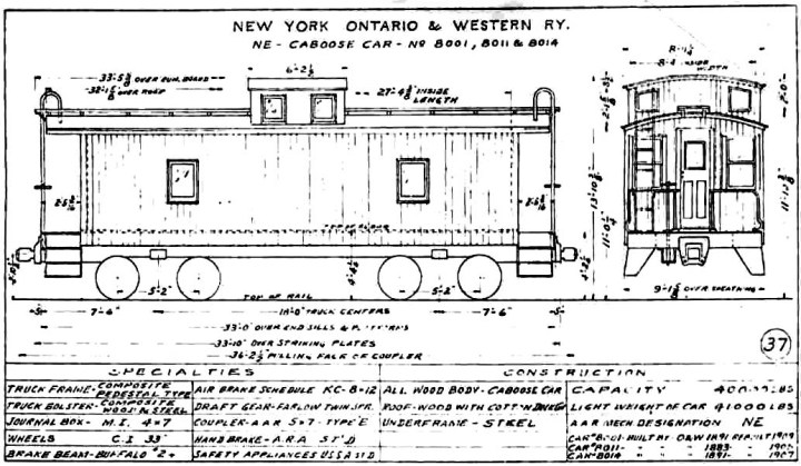 The O W S Other Cabooses Early 8 Wheel Caboose Cars Of Nyo