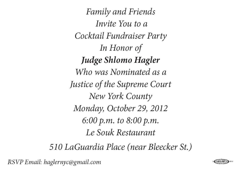 FAMILY & FRIENDS FOR SHLOMO HAGLER