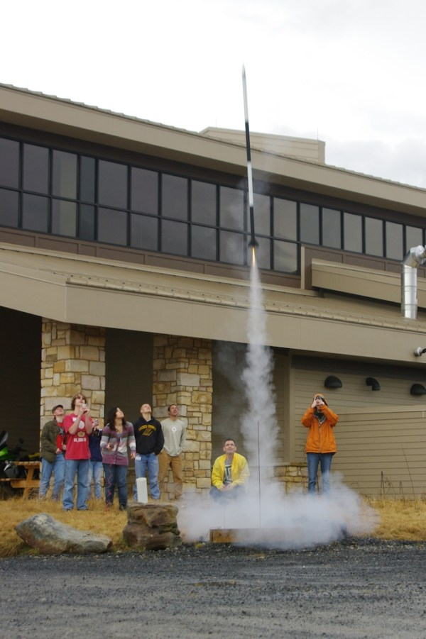YSDE Students participate in a seminar on rockets outside the STEM Education Center