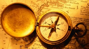 Historical Map with Compass