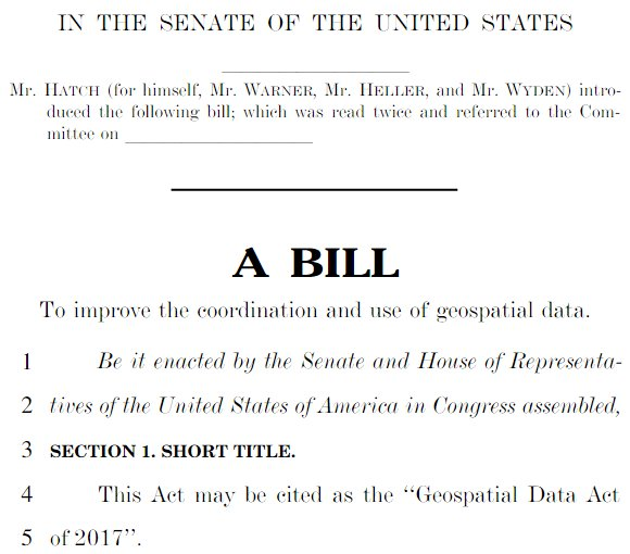 Geospatial Data Act of 2017 – UPDATE   NYS GIS Association
