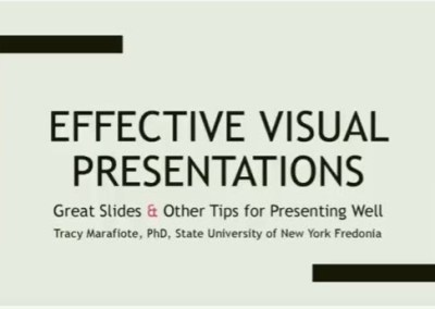 Crafting Effective Presentations