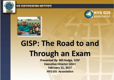 GISP – The Road to and Through an Exam