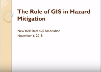 Hazard Mitigation and GIS