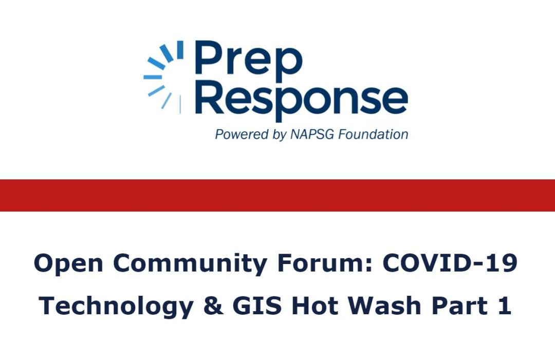 COVID-19 Technology & GIS Hot Washes | Open Community Forum