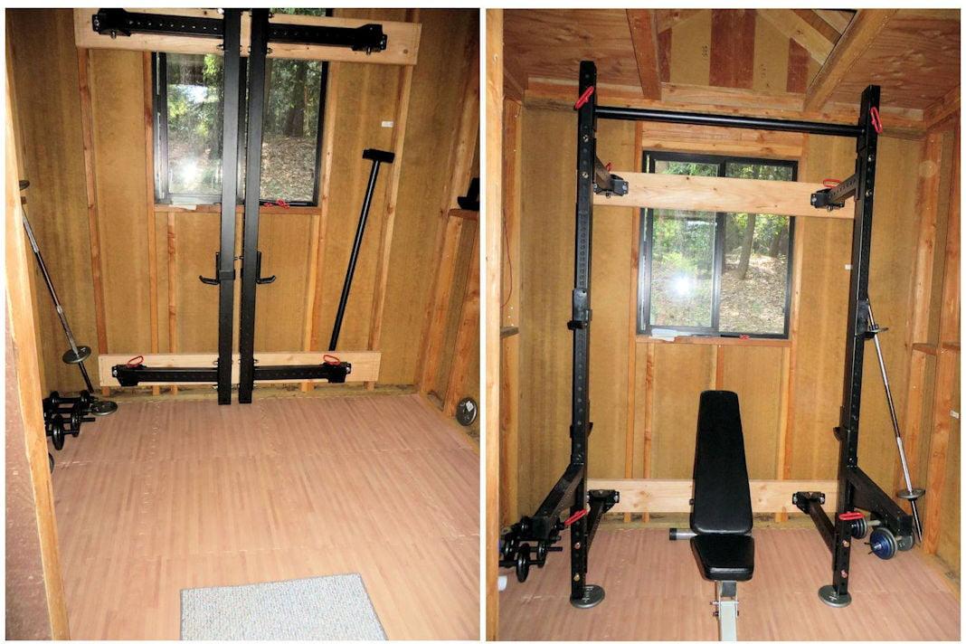 small home gym and yoga studio plus