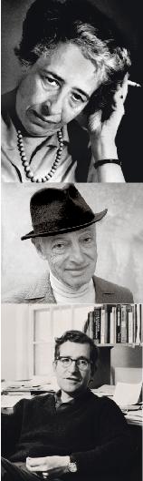 Hannah Arendt, Saul Bellow, Noam Chomsky