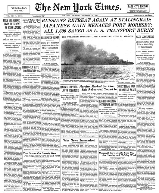 New York Times Reprint From Any Date