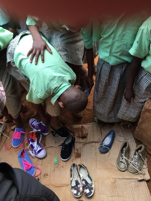 1 Metric Ton of Shoes Donated to Nyumbani Village