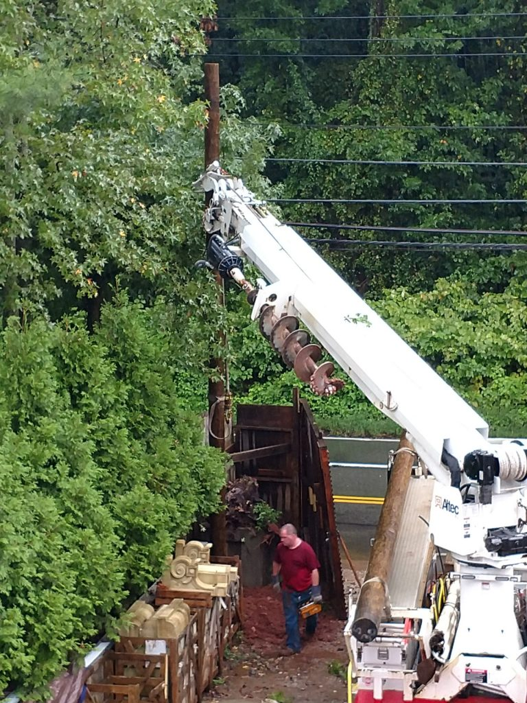Ny Wood Utility Pole Installations In Queens Village Ny