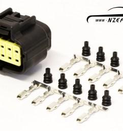 10 pin mazda rx7 s6 8 oil metering pump connector [ 1600 x 1125 Pixel ]