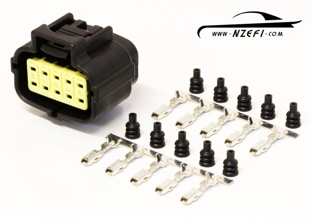 medium resolution of 10 pin mazda rx7 s6 8 oil metering pump connector