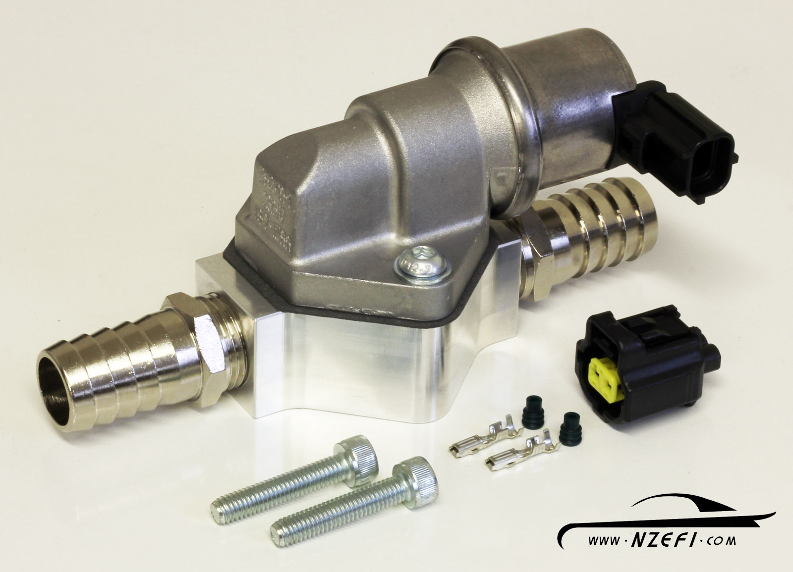 hight resolution of 2 wire idle speed solenoid kit with remote mount and straight barb fittings 2