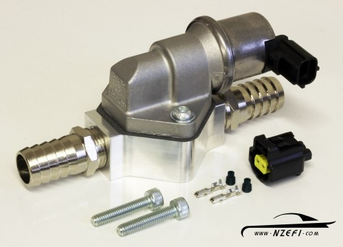 small resolution of 2 wire idle speed solenoid kit with remote mount and straight barb fittings 2