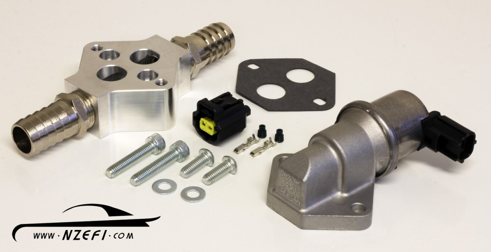 medium resolution of 2 wire idle speed solenoid kit with remote mount and straight barb fittings