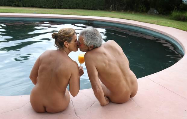 Ellen Gebel, 53, and partner Bernhard Wiesler, 52, regularly go on nakations together. Photo/John Borren
