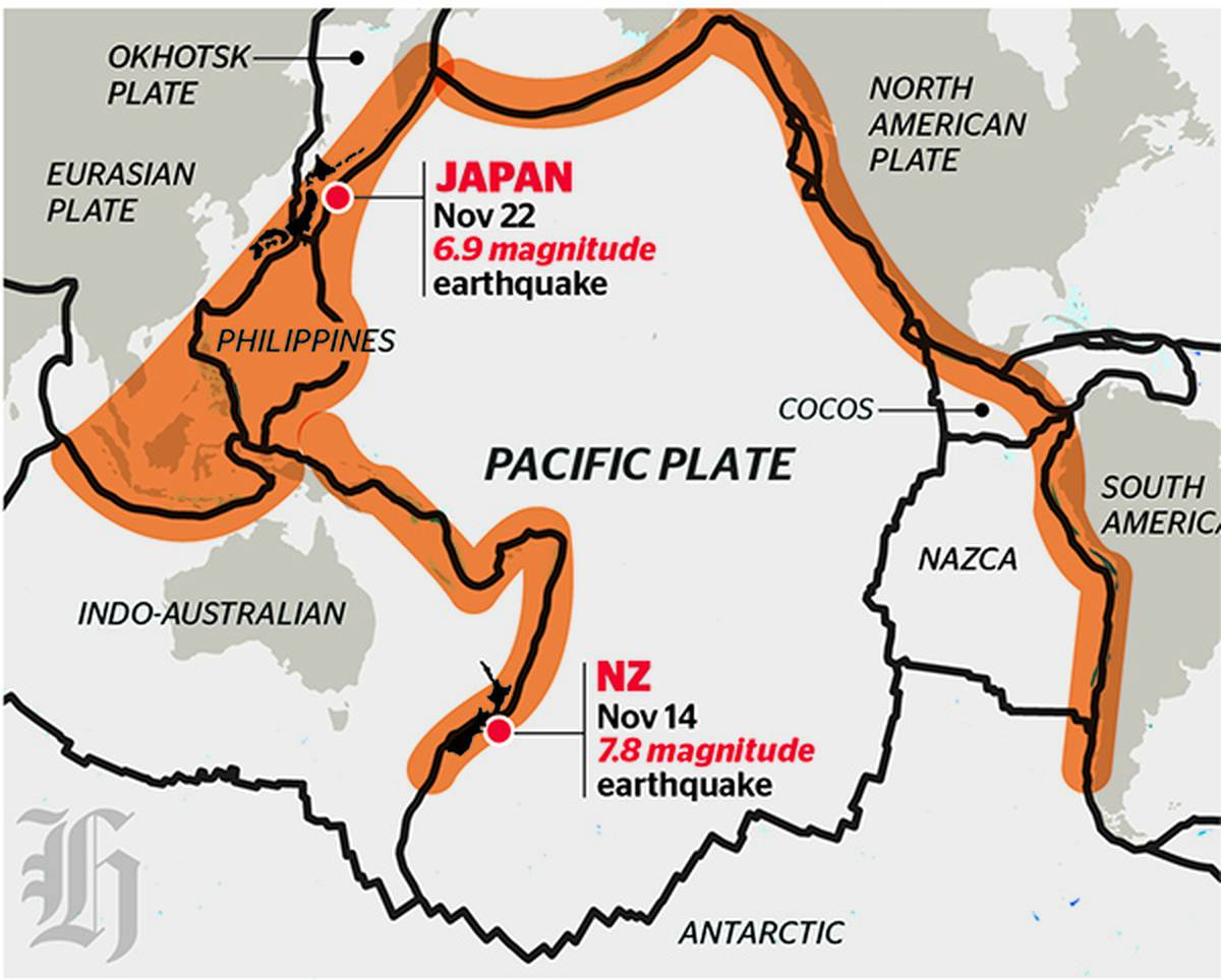 hight resolution of ring of fire countries constantly struck by volcanic eruptions and earthquakes