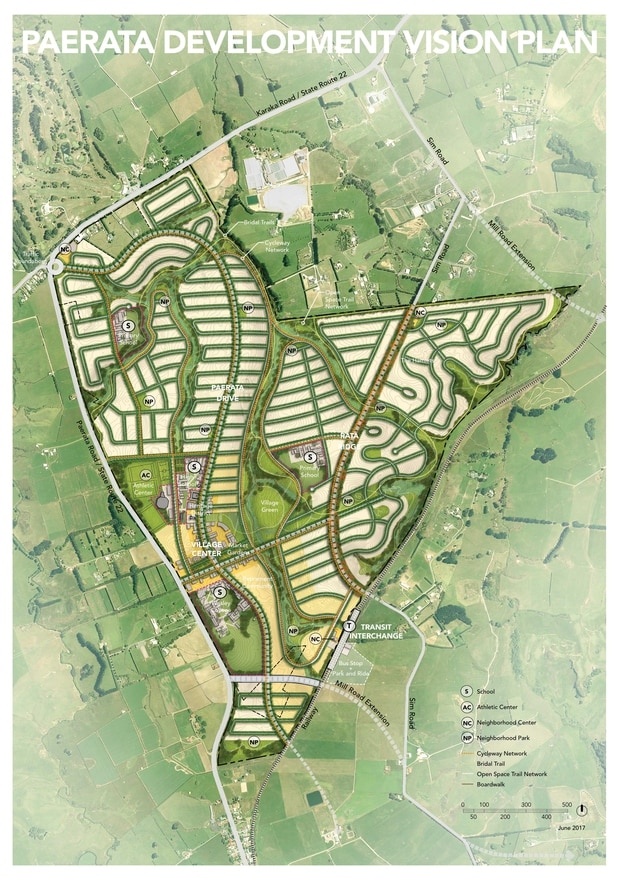 Paerata Development Vision Plan. Photo: Supplied