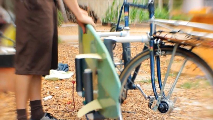 自転車用サーフボードキャリアの完成