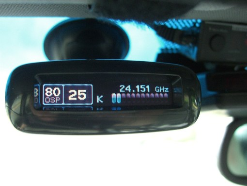 Escort Passport MAX radar detector installed