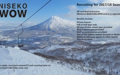 Niseko Wow is looking for Instructors for the 17/18 Season