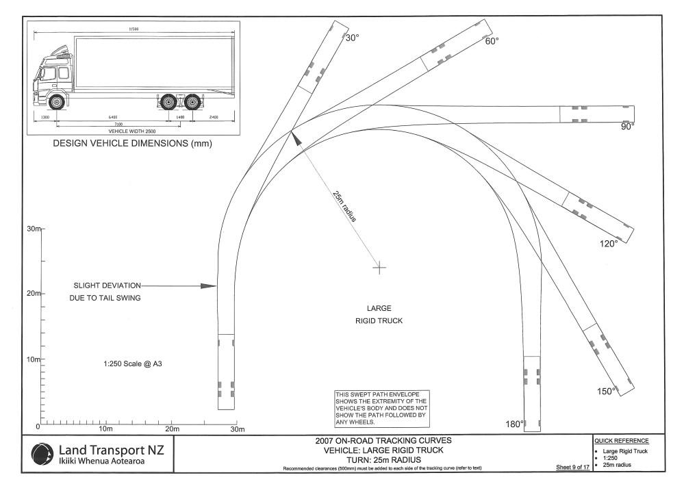 medium resolution of sheet 9 large rigid truck 25 metre turn radius