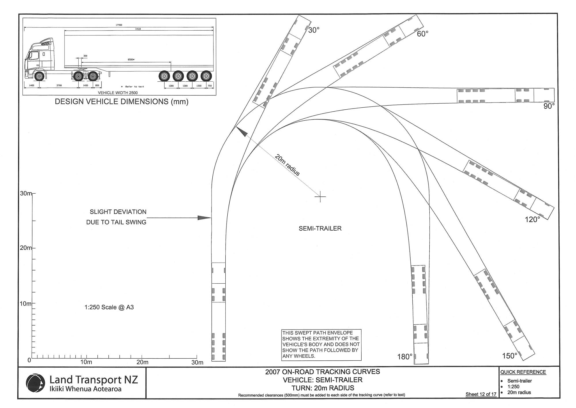 hight resolution of sheet 12 semi trailer 20 metre turn radius