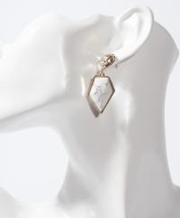 Premium White Stone Earrings   Nzuri Boutique