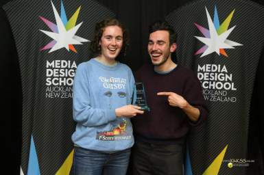 Innovation Award winners Candle Wasters Claris Jacobs and Robbie Nichol