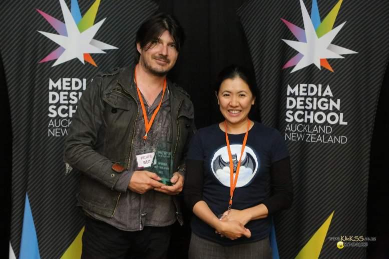 Best Web Series winners Peter Haynes and Hweiling Ow, AFK