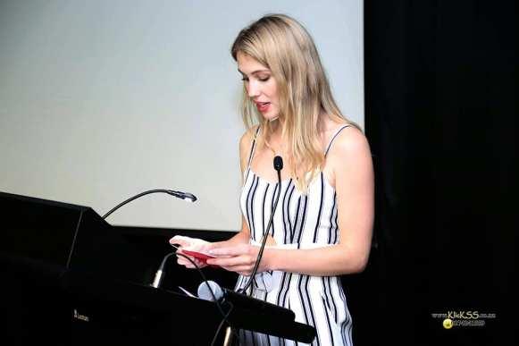 Host Brittany Clark