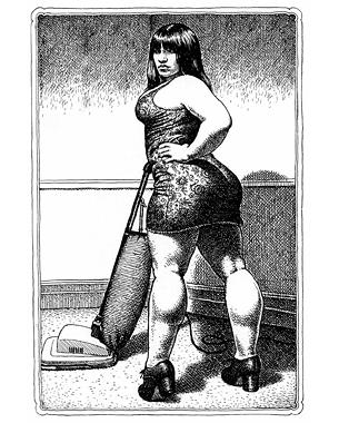 La primera recopilación de bocetos de Robert Crumb impresos a partir de originales desde la serie de siete volúmenes en tapa dura publicada por la editorial alemana Zweitausendeins entre 1981 y 1997.  © Robert Crumb