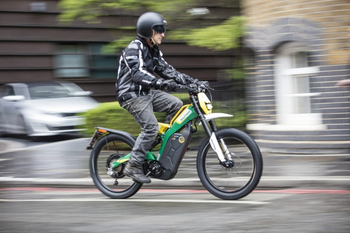 itus got pedals but itus not a pedelec although the bultaco brinco is restricted to mph itus got a lot more oomph than any cc moped