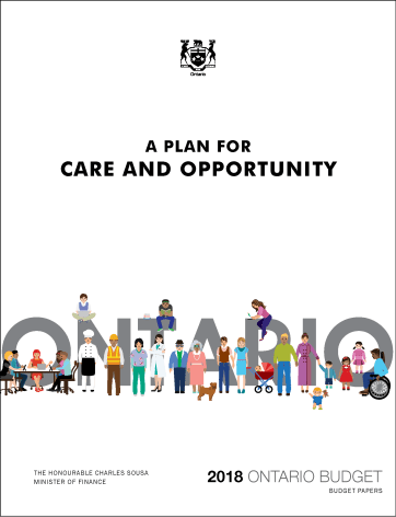 2018 Ontario Budget cover