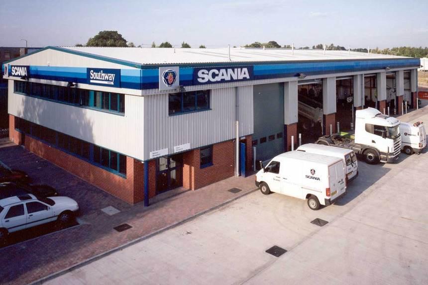 Scania Workshops, Swindon, photo courtesy of Kier