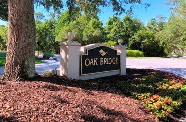 Oakbridge Entrance Sign Along TPC Blvd