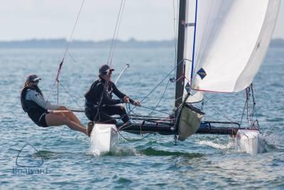 Dave Hein sailing a Nacra 17