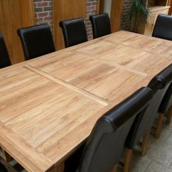 Large Kitchen Table Stainless Steel Outdoor Doors Refectory Tables Oak Dining Shown Without The End Extensions 2 8m Is Still A Very Big That Can Seat 10 People With Great Comfort