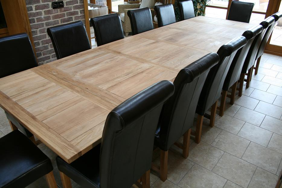 large kitchen table live edge refectory tables oak dining with the extensions added 14 people can be seated easily and 16 or 18 if 70cm end are fitted