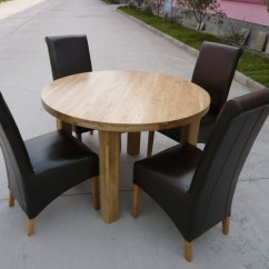 Kitchen Table Round Slate Floor Dining Extending Oval Solid Oak 120cm
