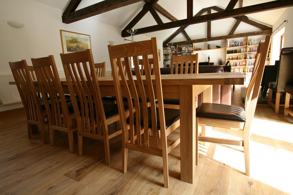 large kitchen table paint dining seats 10 12 14 16 people huge big tables the slatted back design of winchester solid oak chairs make these without doubt some finest in uk