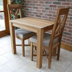 Kitchen Table Small Assembled Cabinets Dining Tables Compact Oak