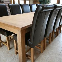 Large Kitchen Table Faucet Pull Down Dining Seats 10 12 14 16 People Huge Big Tables