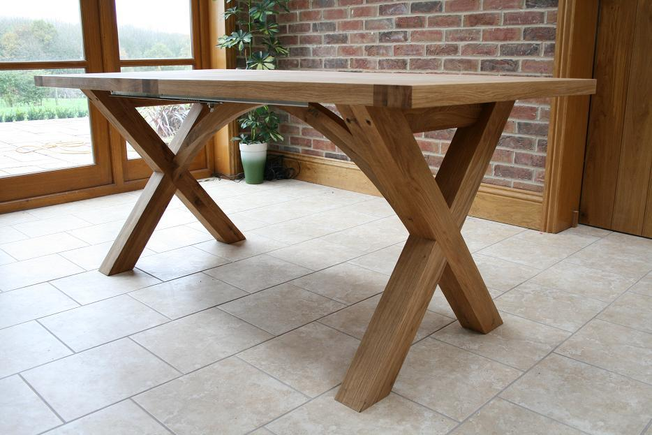 kitchen table legs style ideas cross leg dining tables extending x oxbow the provence design of oak