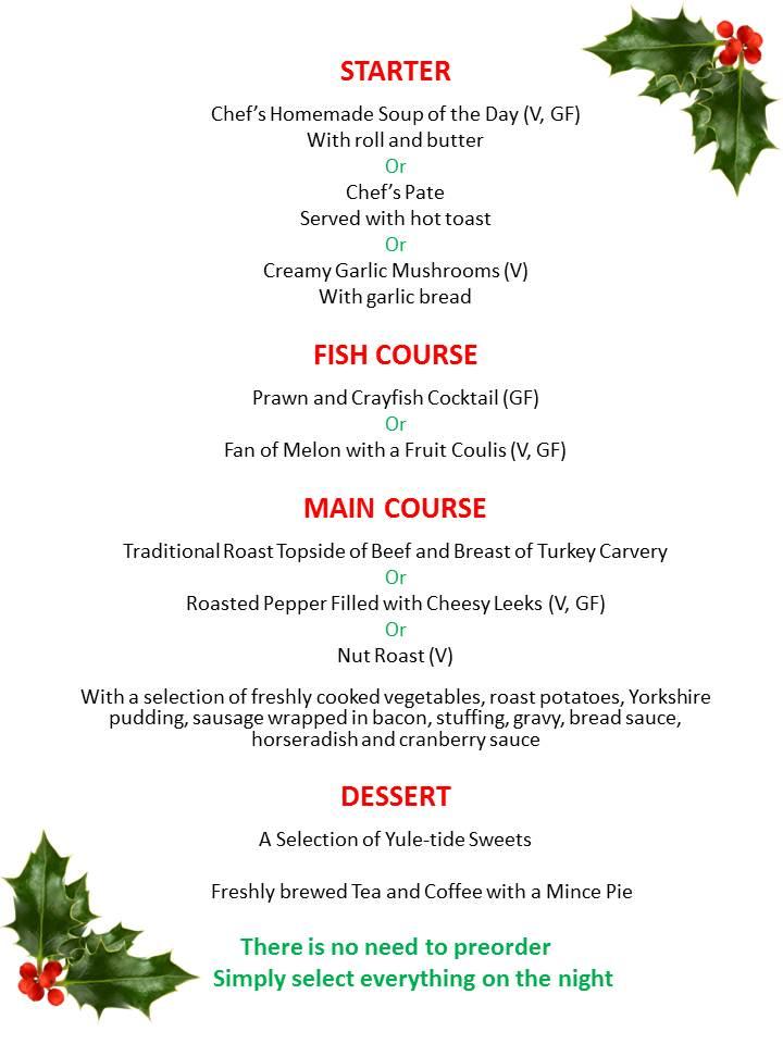 5 course meal menu template